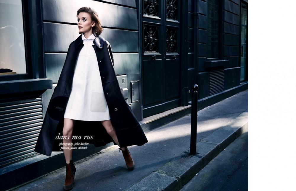 Leather Coat / Hermès Dress, Shirt & Shoes / Fendi