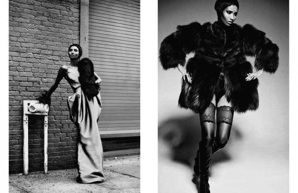 Dress / Julianna Bass Fur / Femme D'armes Shoes / Nicholas Kirkwood Gloves / Adrienne Landau Belt / KTZ Opposite Collar / Sophie Theallet Coat / ADEAM  Bodysuit / Va Bien  Thigh Highs / Falke  Shoes / Giulietta  Rings / Erickson Beamon, Bijules, Samantha Wills & Rue Gembon