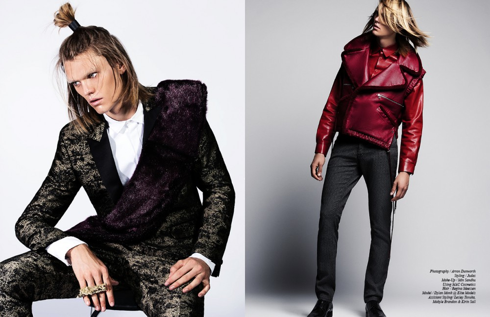 Blazer & Trousers / Roberto Cavalli  Shirt / Natural Selection Scarf / Shaun Sampson Ring / Lucky Little Lighters Opposite Jacket / Jamie Wei Huang Shirt / Wan Hung Cheung Trousers / Roberto Cavalli Shoes / Robert Clergerie