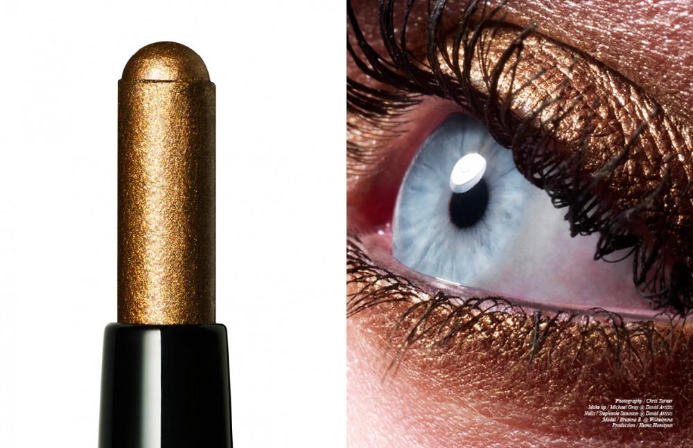 Bobbi Brown Creamy concealer in Warm Ivory Golden Bronze and 24 Karat Long Wear Eye Shadow Stick Lash Glamour Extreme Lengthening Mascara