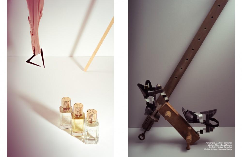 Cologne 352, Vetiver Moloko & Bois D'Hiver men's fragrances / Ex Nihilo Body / Wolford Letter opener / Hannah Martin London Opposite Shoes / Salvatore Ferragamo