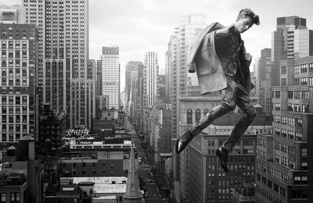Coat / Bottega Veneta Suit / Alexander Wang Jumper / Hermès Socks / Alexander McQueen Shoes / Roberto Cavalli