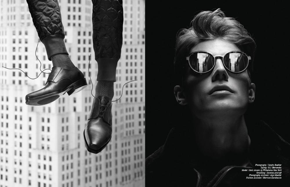 Trousers / Dries Van Noten Socks / Prada Shoes / Roberto Cavalli Opposite Coat / Burberry Prorsum Sunglasses / Dries Van Noten