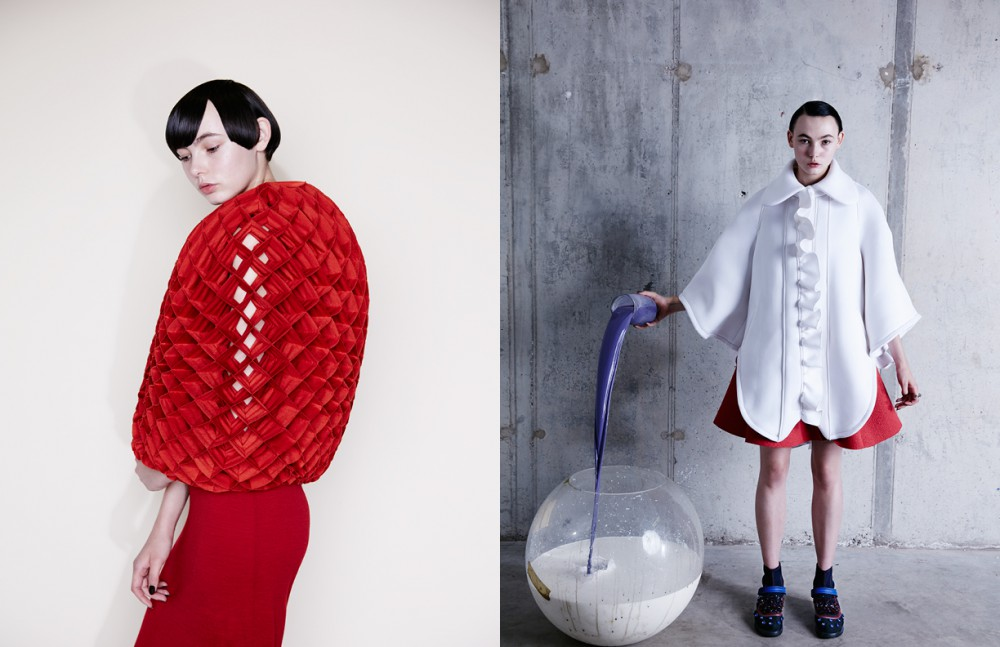 Total look / Junya Watanabe Opposite Coat / Nicopanda Dress / Emporio Armani Trainers & ring / Dior