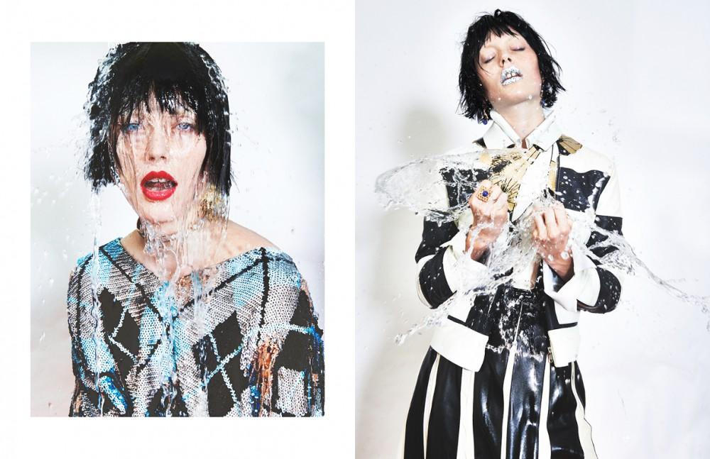 Top / Ashish Necklace / Eddie Borgo Earring / Ana Khouri Opposite Jacket & skirt / Sonia by Sonia Rykiel Shirt / palmer//harding Necklace / Nuit Nº12 Ring & earrings / URiBE