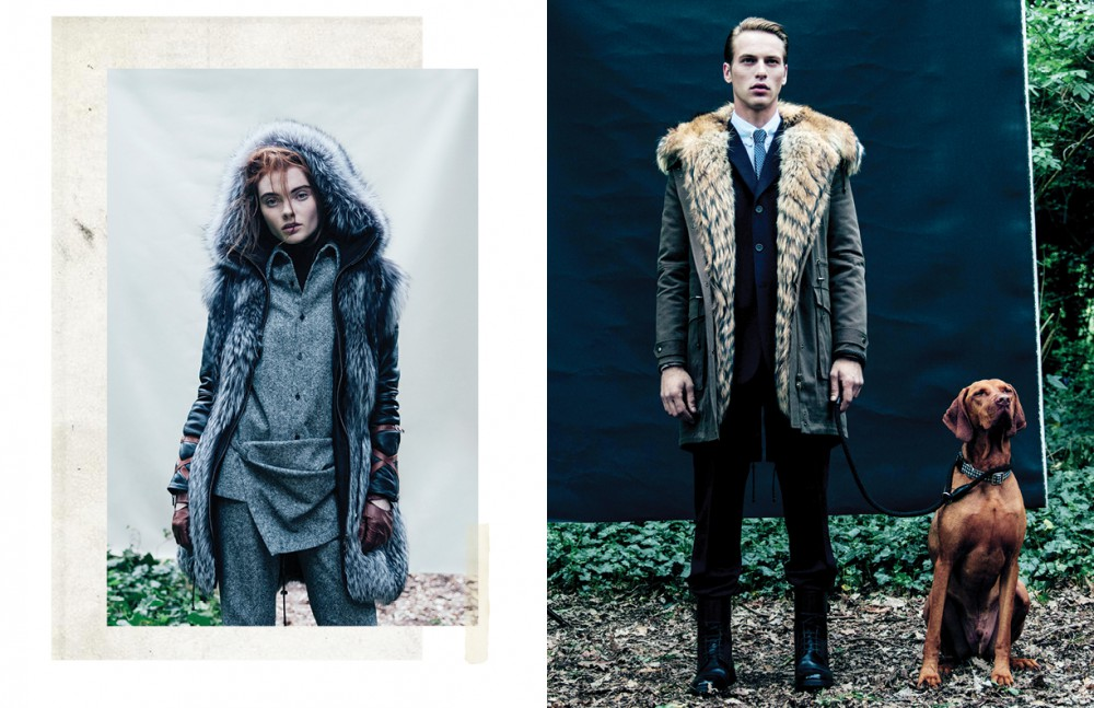 Coat / KUMETH Shirt and trousers / Stella McCartney Top / Wolford Gloves / Aquascutum Opposite Coat / KUMETH Suit, shirt, tie & tie bar / Brioni Boots / Christian Louboutin