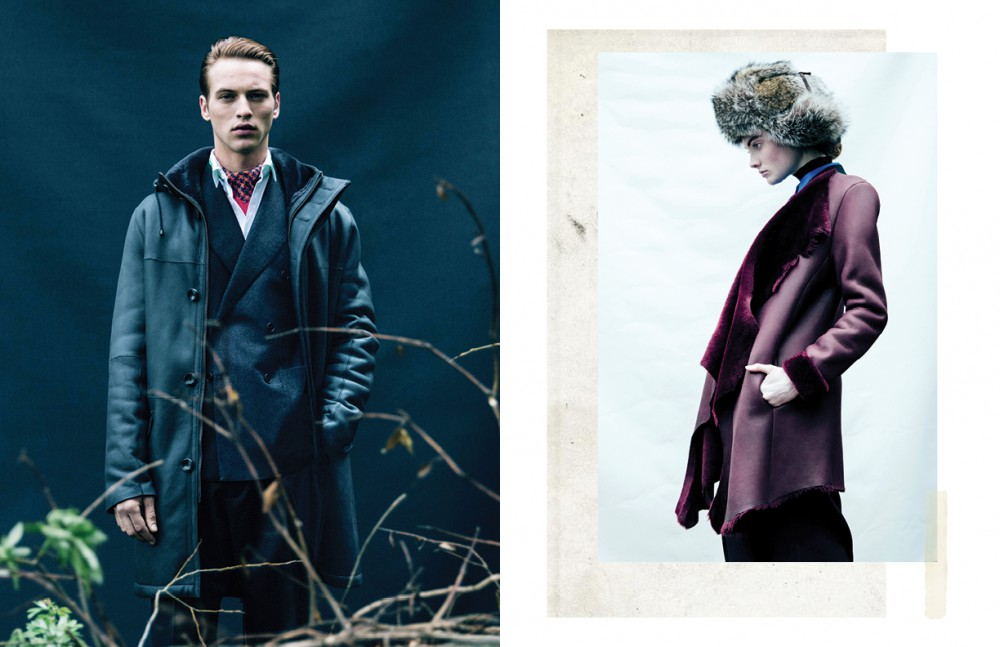 Coat / KUMETH Suit & shirt / Bottega Veneta Scarf / Richard James Opposite Coat / KUMETH Jacket & trousers / Akris Polo neck / Wolford Shirt / Roberto Cavalli Hat / Aquascutum