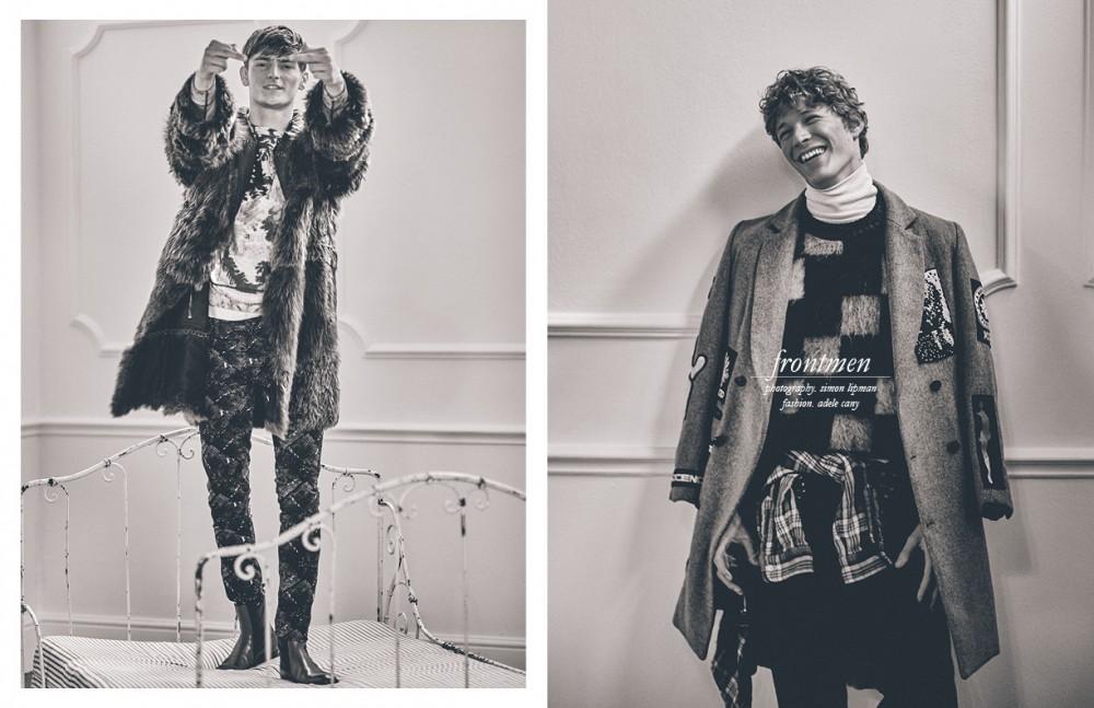 Coat / Lanvin Sweatshirt / Pringle of Scotland Jeans / Antony Morato Boots / Christian Louboutin Opposite Coat / KTZ Polo neck / Lanvin Jumper / Belstaff Trousers / BOSS Shirt around waist / Ralph Lauren Clip on hip / 3.1 Phillip Lim