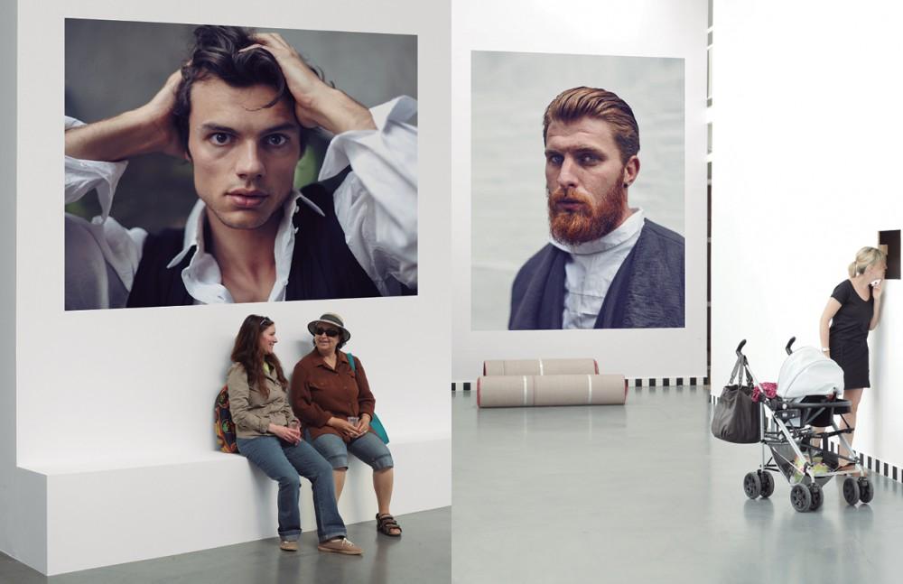 'Le Désespéré' / Gustave Courbet Jack wears Shirt / Lena Lumelsky Waistcoat / DRKSHDW Opposite 'Portrait de l'artiste' / Vincent van Gogh Jonny wears Jacket / Sandrine Philippe Shirt / COS