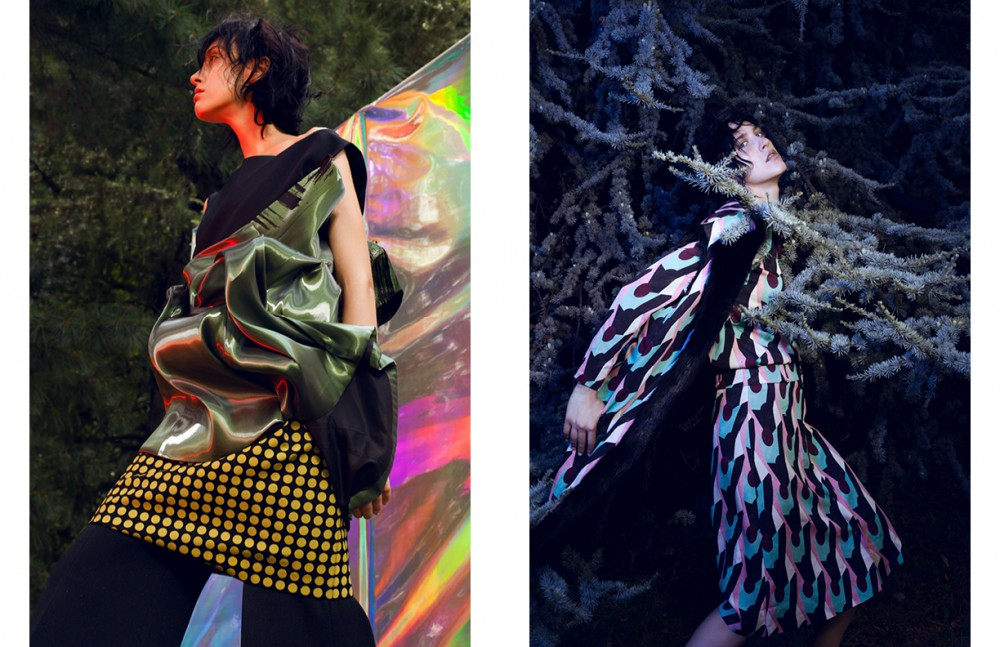 Jumpsuit / Calvin Klein Collection Dress / Alice Tamburini Dress underneath / Bottega Veneta Opposite Total look / Andrea Incontri