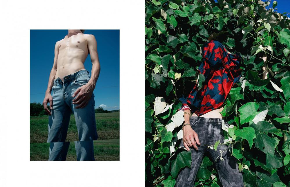 Jeans / Nudie Jeans Opposite Scarf / Robert Geller Bracelet (worn on top) / The Lab By Laura Busony Bracelet / LHN Jewelry Jeans / BLK DNM