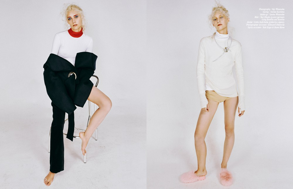 Jacket & Trousers / Jacquemus Turtleneck / Veronique Branquinho Opposite Top / Fendi Inner Turtleneck & Underwear Pants / Stylist Own Shoes / Kenzo