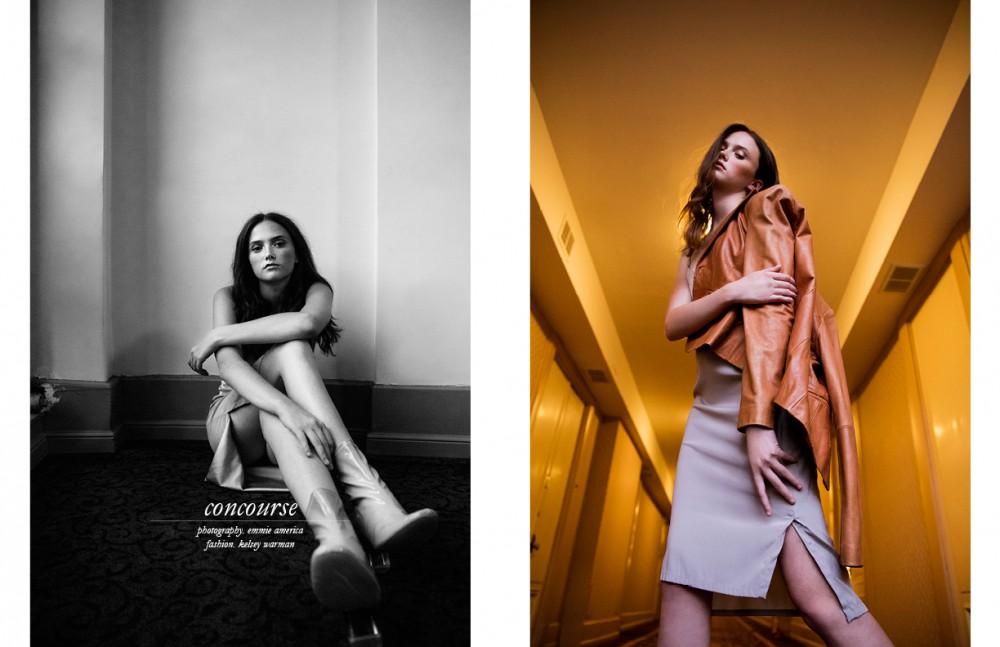 Silk Dress / Mallia Mills Leather Jacket / Vintage Shoes / Dior