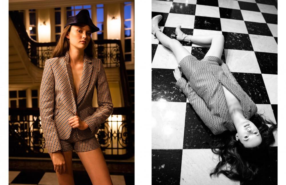 Printed Suit / Zara Hat / Yoji Yamamoto Shoes / Dior