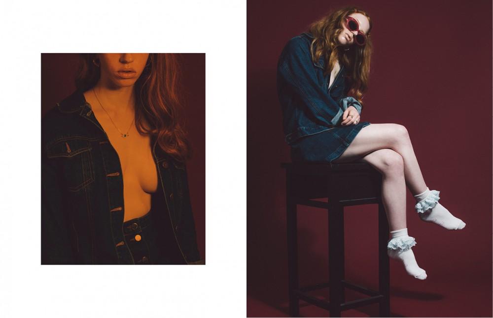 Denim Jacket / Brooker Denim Skirt / COS Opposite Sunglasses / Fendi Socks / Pum Pum Socks