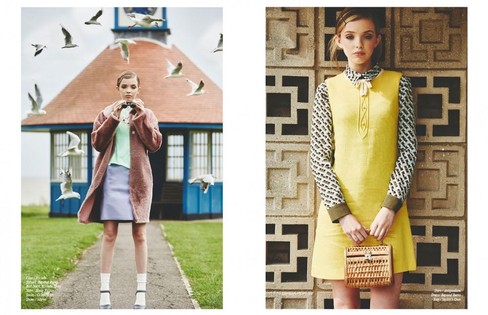 Coat / Escada Tabard /Beyond Retro Roll Neck /Escada Sport Skirt / Holly Fulton Socks / Urban Knit Shoes / Marni Opposite Shirt / Antipodium Dress/ Beyond Retro Bag / Stylist's Own