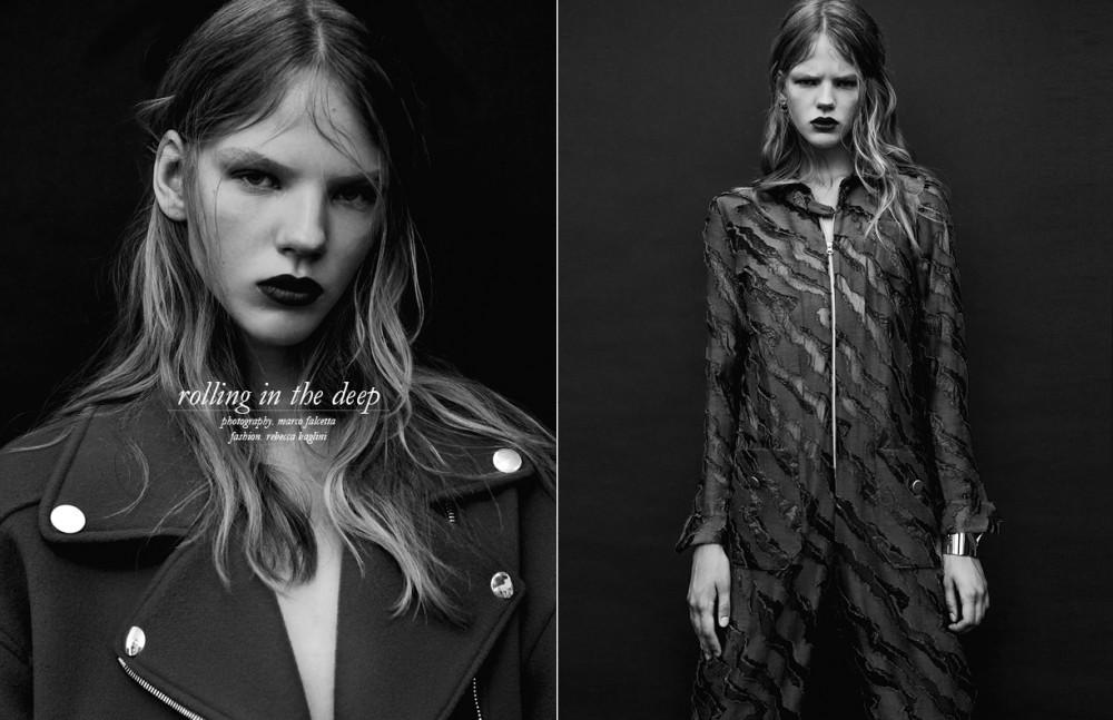 Biker coat / Moschino Opposite Jumpsuit / Arthur Arbesser Gold cuff / Louis Vuitton Earrings / Bjorg