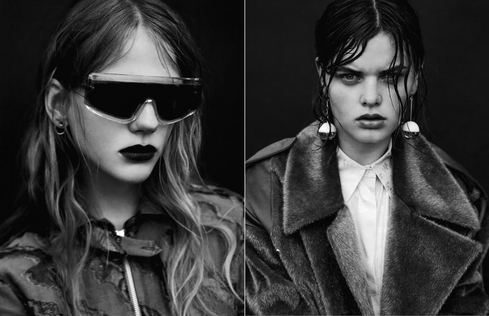Jumpsuit / Arthur Arbesser Earrings / Bjorg Sunglasses / Retro Super future Opposite Coat / Edmund Ooi Shorts / Stella Mc Cartney Earrings / Marni