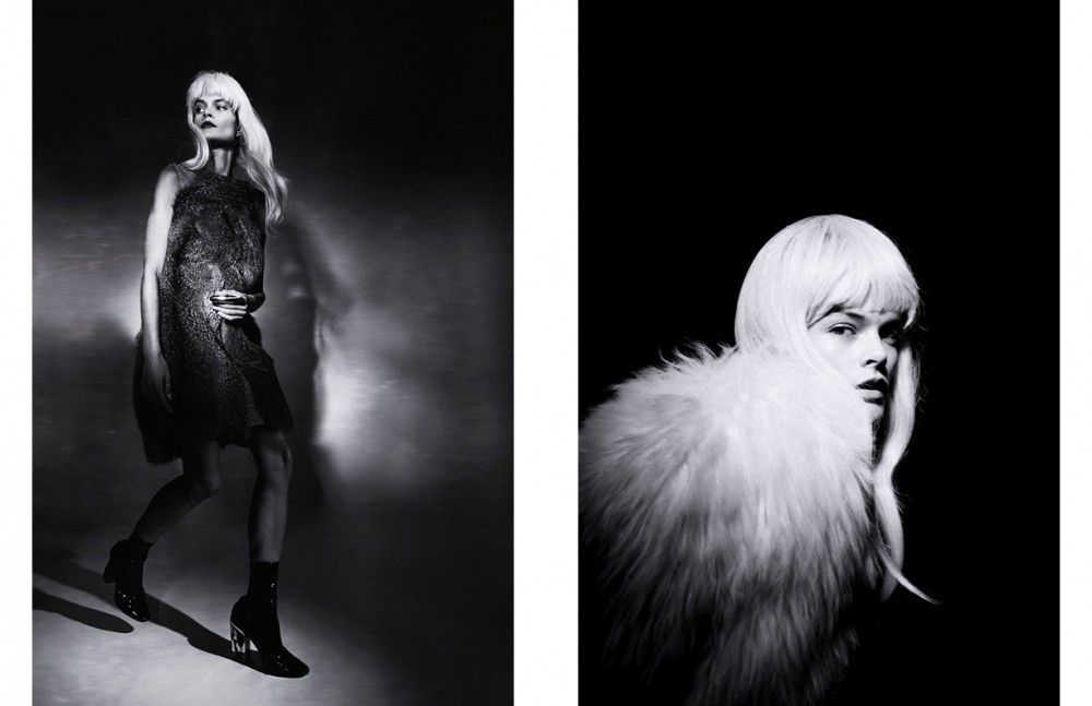 Dress & Shoes / Christian Dior Opposite Dress & Faux Fur / Pascal Millet