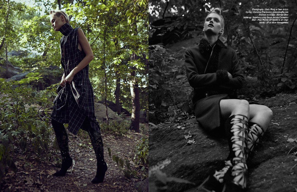 Dress / Assembly Boots / Paul Andrew Opposite Skirt & Jacket / Adam Selman Boots / Alejandro Ingelmo