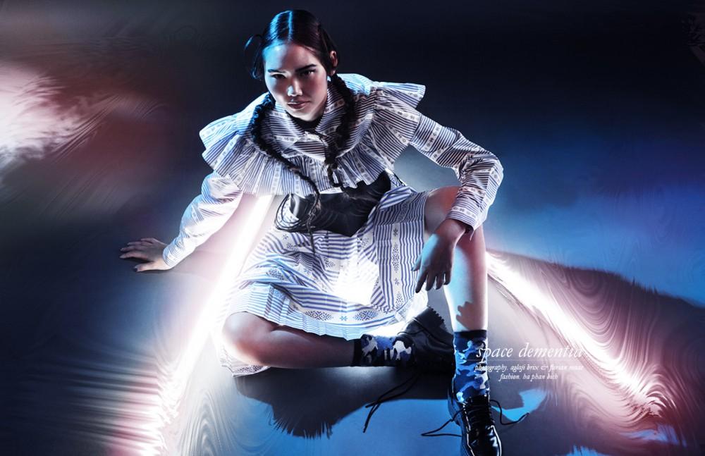 Blouse & Skirt / Miu Miu Belt / DSTM seen at ÉCOLE Boutique Socks / Love Stories Intimates Shoes / Monki