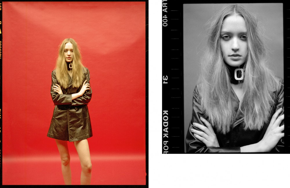 Ivana @ M&P wears Leather vintage Jacket / Saint Laurent Collar / JW Anderson