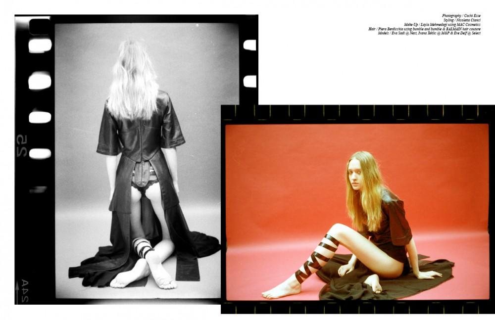 Ivana @ M&P wears Leather Dress / Vielma Panties / La Perla