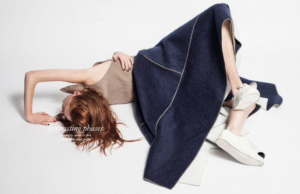 Soft Knit Top / Helen Lawrence Wool and Leather Skirt / Steven Tai Shoes / Cos