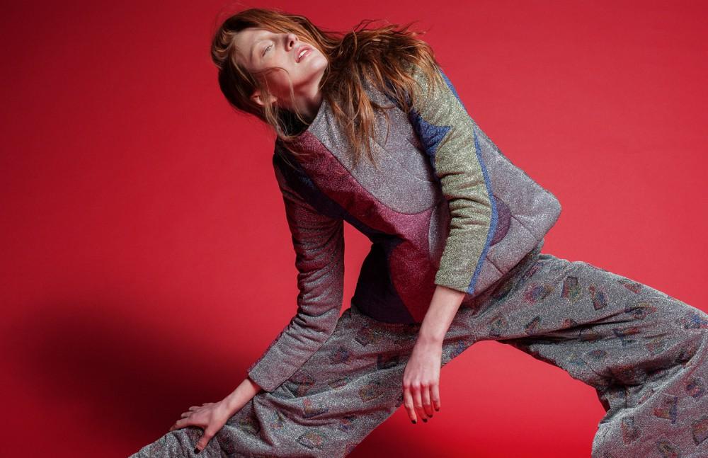 Metallic Printed Top and Pants / Sadie Williams