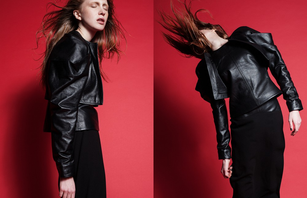 Cropped Leather Jacket, Top, & Skirt /Martine Jarlgaard