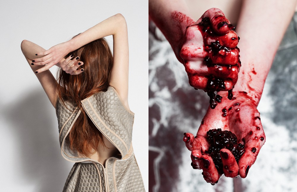 Quilted Leather Dress / Danielle Romeril Opposite Metallic Printed Pants / Sadie Williams