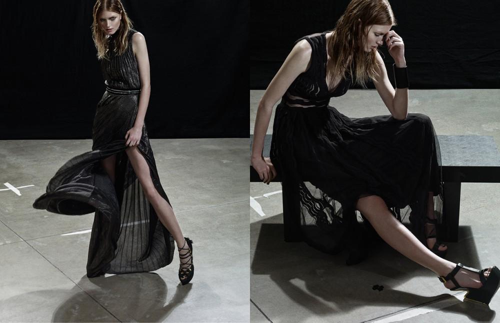 Dress / Bluemarine Shoes / Wunderkind Opposite Dress / M Missoni Shoes / Giuseppe Zanotti Design Cuff / Aumofia