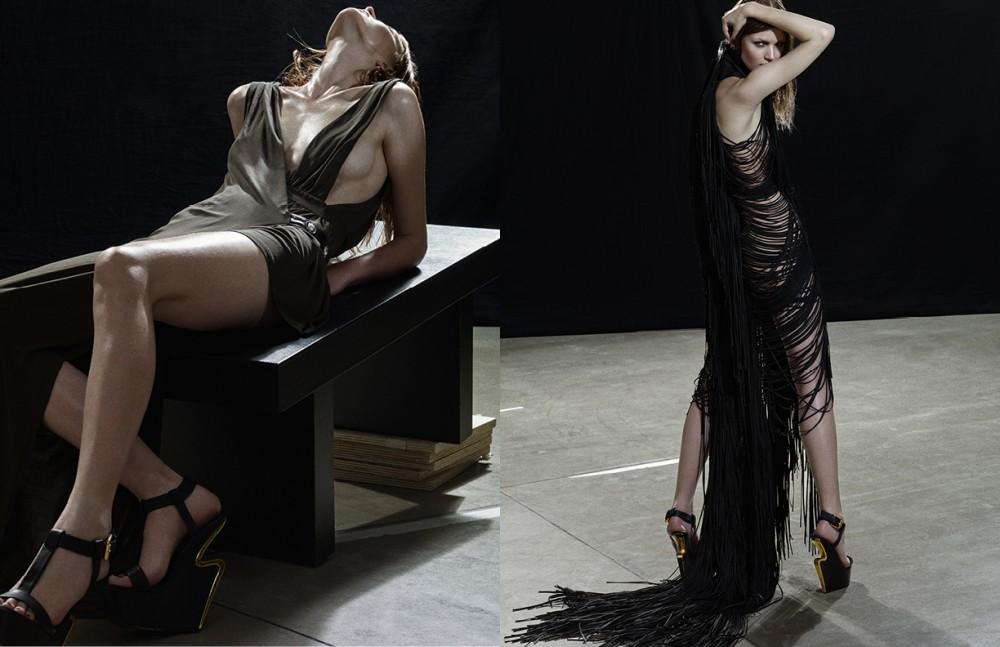 Dress / Versus Versace Shoes / Guiseppe Zanotti Design Opposite Dress / Di Liborio Shoes / Giuseppe Zanotti Design
