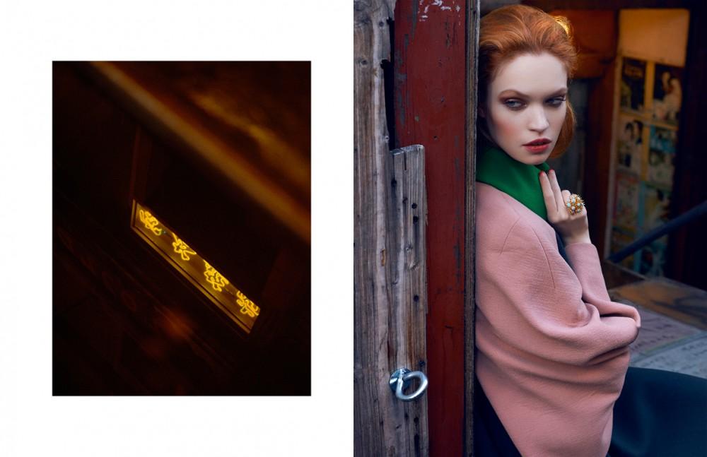 Coat / DELPOZO Ring / Lele Sadoughi