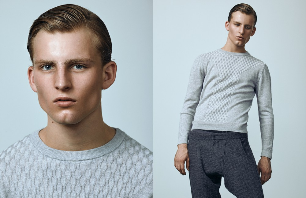 Andrew wears Jumper / Christopher Bates Trousers / Ante Meridiem