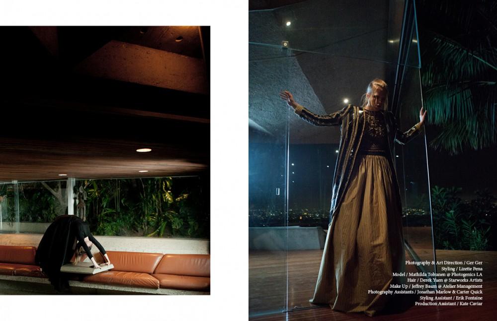Dress / Donna Karan Kelp Head Piece / Julia Koerner Opposite Top / Elisabetta Franchi Jacket / Sarah Sachs Skirt / Rachael Cassar