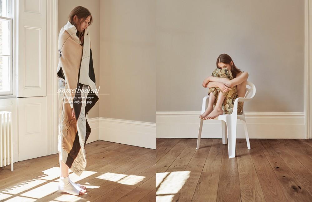 Padded Coat / Celine Socks / Stylists Own Opposite Patterned Trousers / Etro