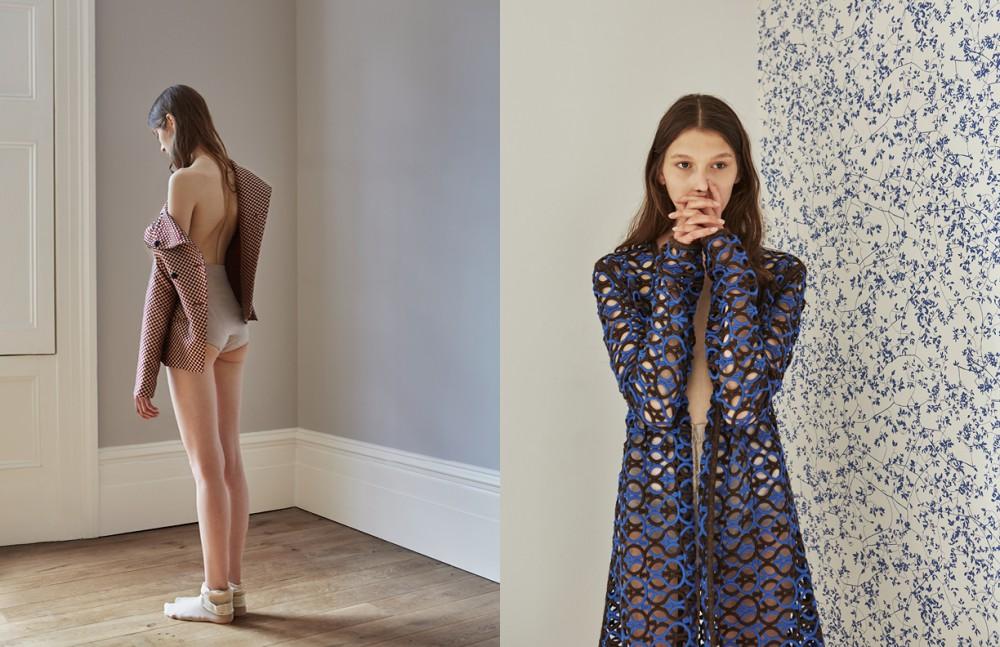 Jacket / Emporio Armani Knickers / Stylist Own Opposite Coat Dress / Isa Arfen