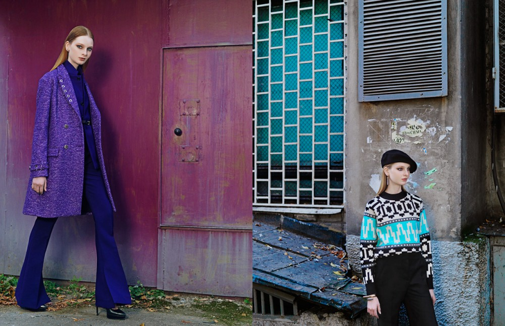 Coat / Versace Belt / DKNY Jacket & Trousers / Marni Shoes / Saint Laurent Earrings / Dior Opposite Jumper / Tak.Ori Trousers / Marni Earrings / Louis Vuitton Beret / Tonak