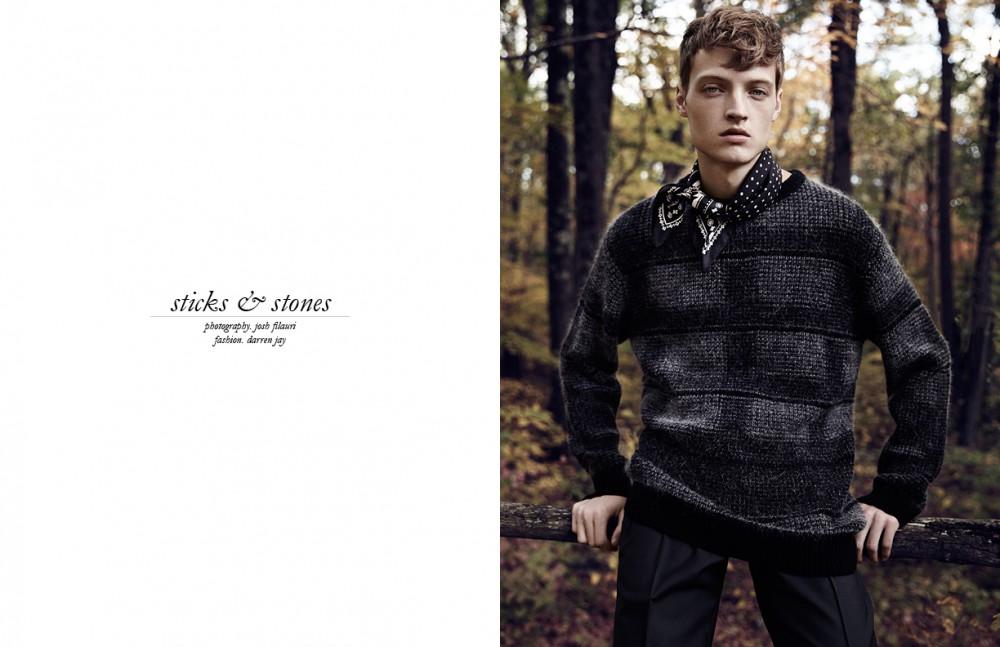 Scarf / Coach Sweater / Public School Trousers / Valentino