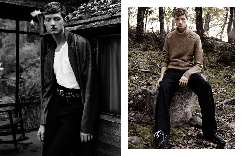 Coat / Rag & Bone Tank Top / T Alexander Wang Trousers / Ann Demeulemeester Belt / Anderson's Opposite Sweater / Helmut Lang Trousers / Balenciaga Shoes / Sandro