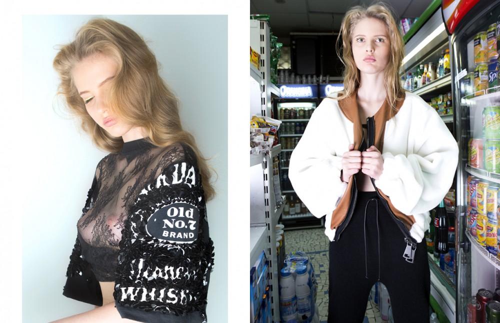 T-Shirt / DryCleanOnly Culotte / Mise en Cage Bas en Latex / Mise en Cage Opposite Coat / Neith Nyer Bra / Mise en Cage Trousers / Mohair Kabel Benenato