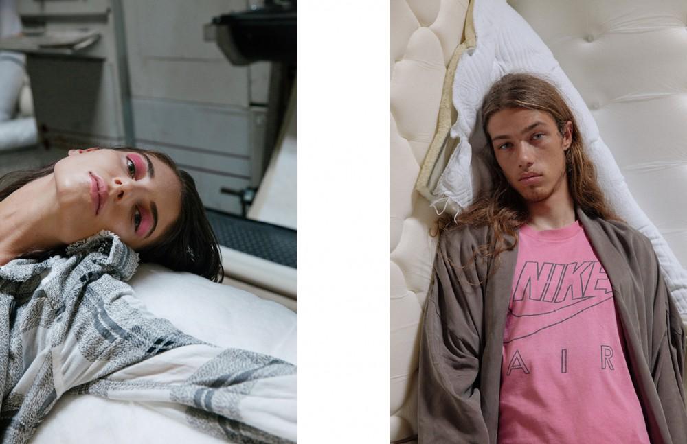 Ilana Kozlov @nextmodels Wears Coat & Bodice / Zimmermann Opposite Daniel Hivner @nextmodels Wears Jacket / Howard Vintage Tshirt / Makers Of Belief
