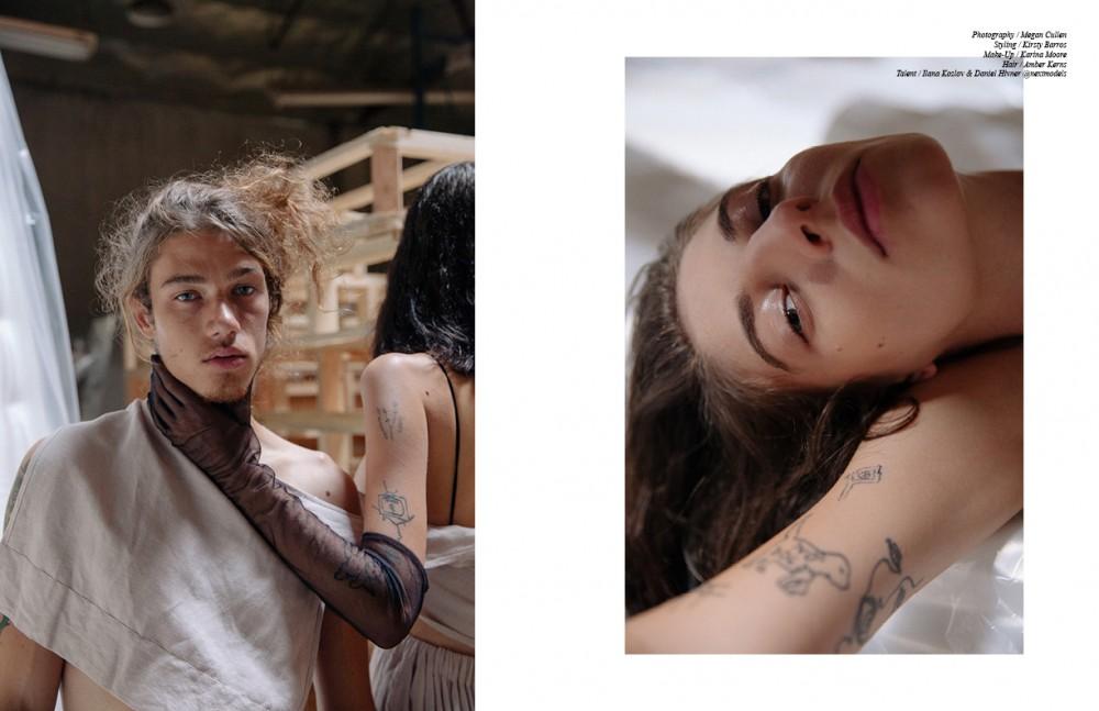 Ilana Kozlov @nextmodels Wears Linen Jumper / Howard Bikini Top / Zimmermann Vintage Glove / Makers Of Belief