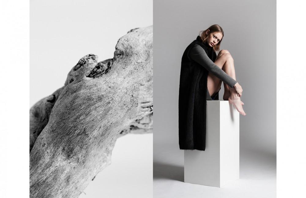 Dress / Miahatami Mohair Vest / Alberto Zambelli