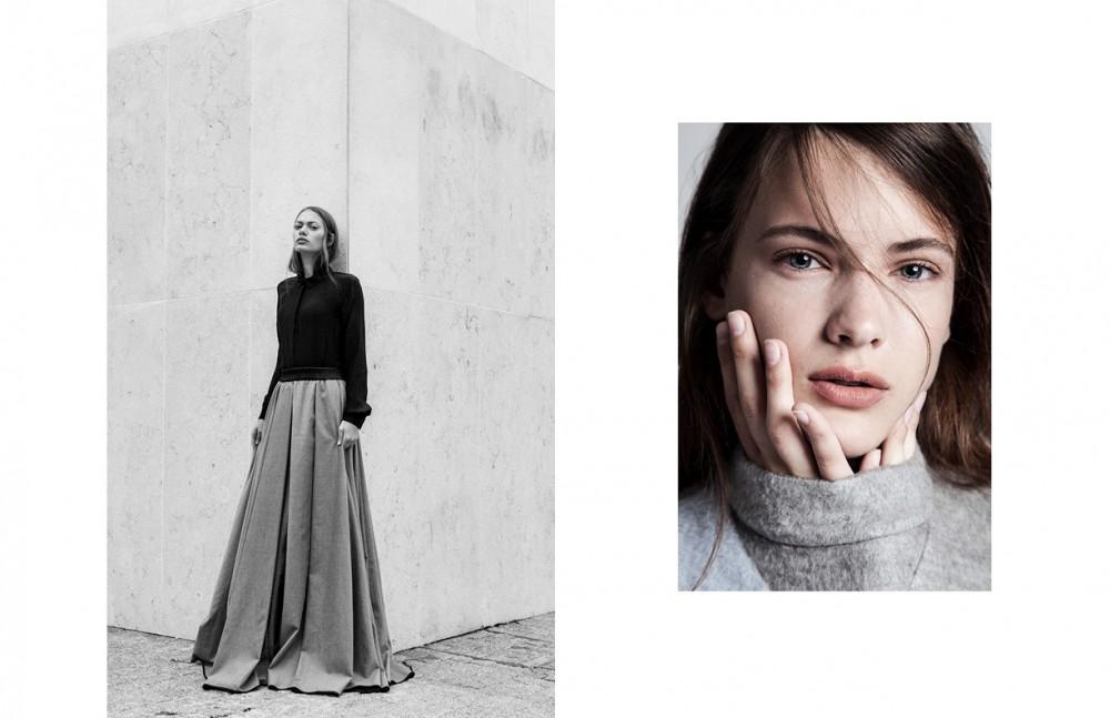 Long Skirt & Shirt / Delfrance Ribeiro Opposite Woolen Dress / Ricostru