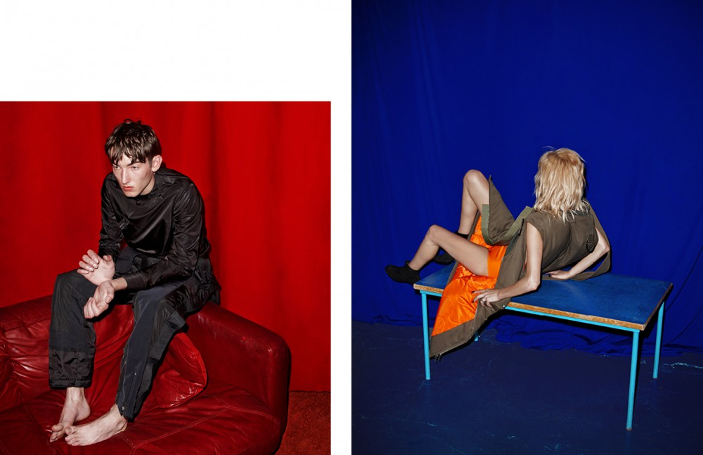 Top / Lou Dalton Trousers / Christopher Shannon Opposite Coat / 3.1 Phillip Lim Latex knickers / Atsuko Kudo Shoes / Robert Clergerie