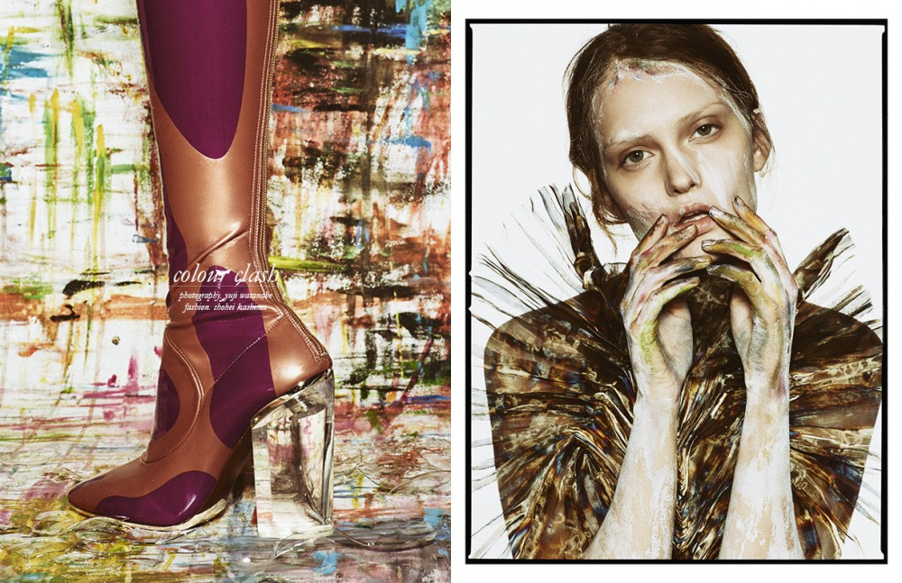 Boots / Christian Dior  Opposite  Top / Iris Van Herpen