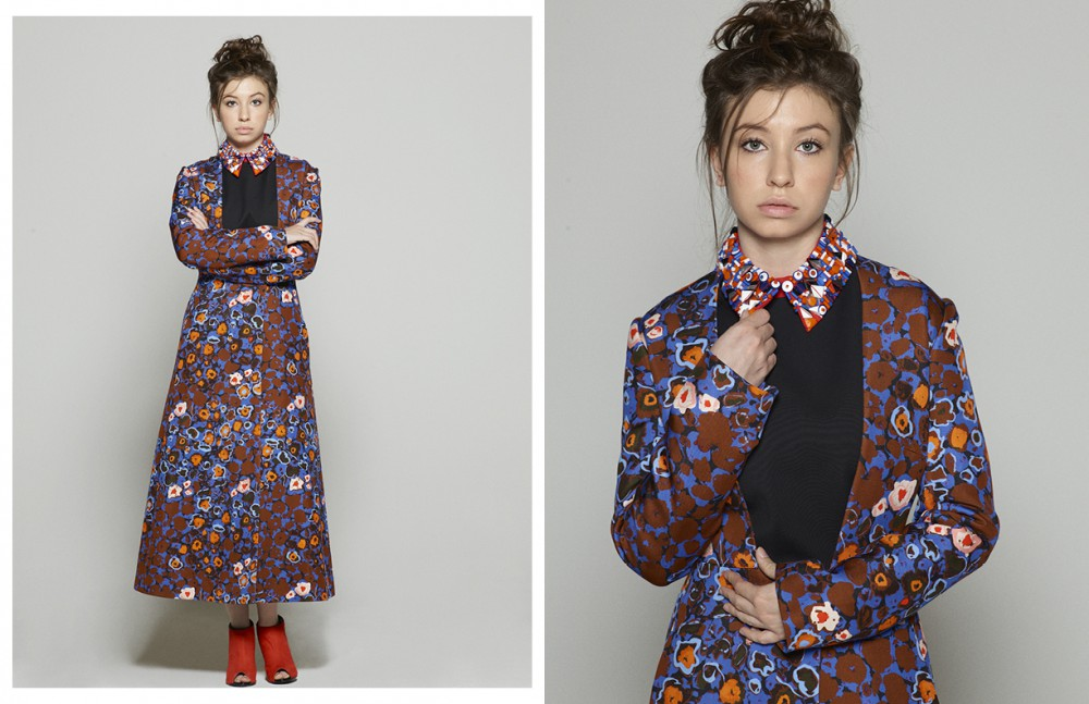 Dress / Catherine Gatta Coat / Catherine Gatta Shoes / Kat Maconie