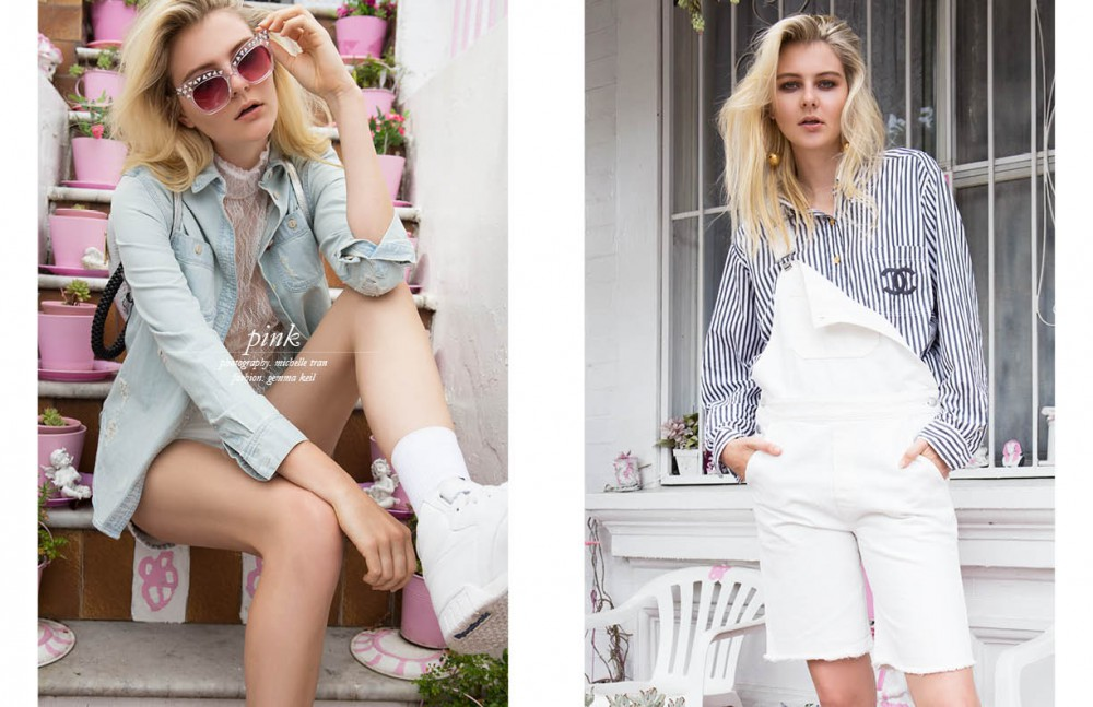 Denim shirt / Levis Top / Witchery Shorts / One Teaspoon Shoes / Reebok Sunglasses / Pared